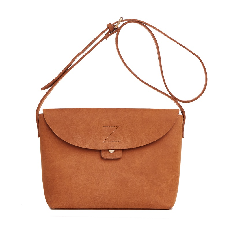New Retro women messenger bags genuine leather handbags brand designer ladies shoulder bag casual women's crossbody bag brown colorectal cancer