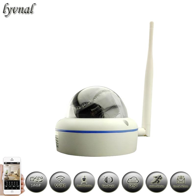 bilder für Drahtlose Metall Dome 1080 P HD Ip-kamera Wifi 720 P Audio 16 GB Sd-karte Nachtsicht Waterpfoof Sicherheit Kamera-überwachungssystem