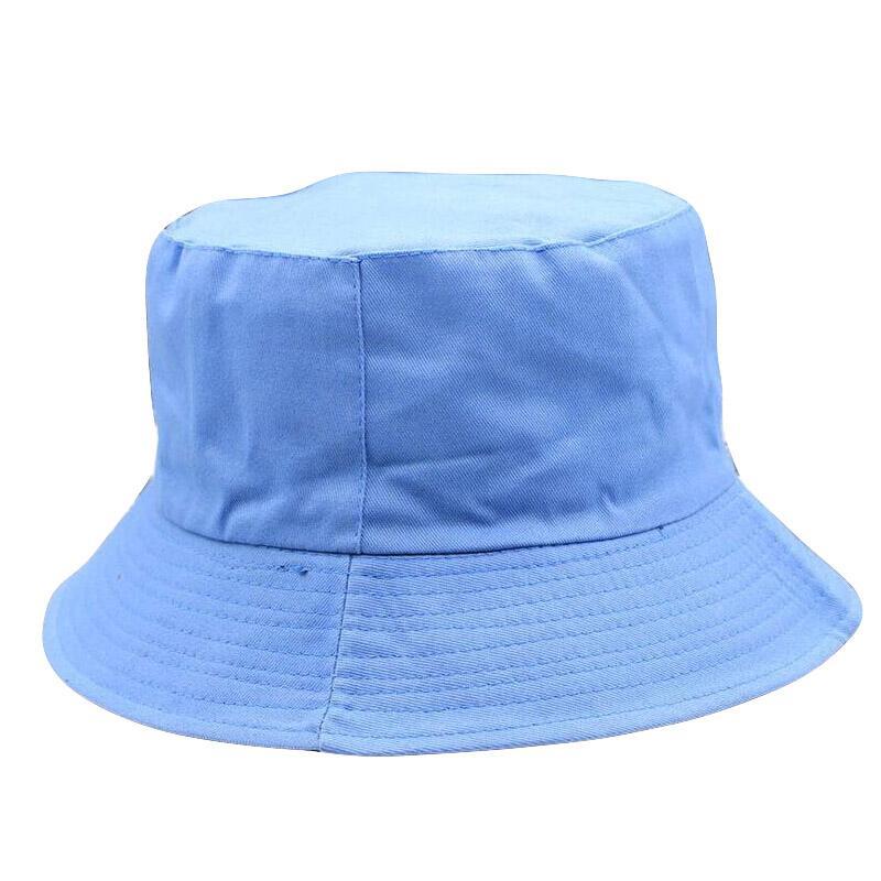 HANGYUNXUANHAO Male Summer Two Sides Wear Fisherman Hat Woman Outdoors Sun Hat Men 100 Cotton Plain Panama Bucket Hats Bones in Men 39 s Bucket Hats from Apparel Accessories