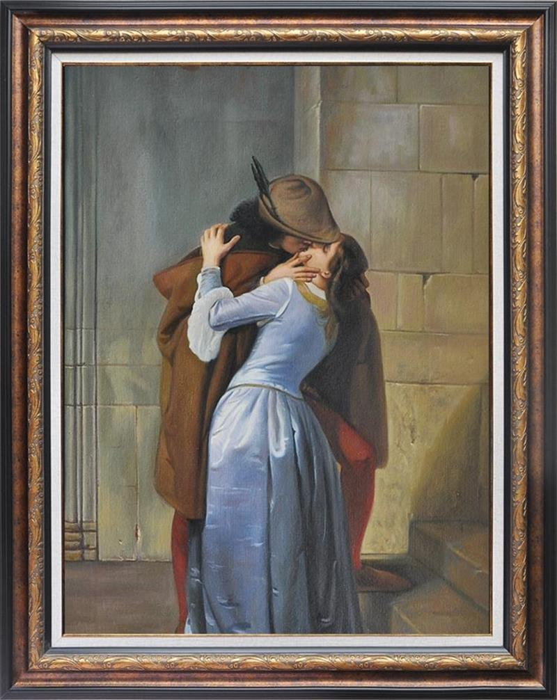 Famous Oil Painting Reproduction Kiss Hand Painted Figure Painting Copy Old Master Painting Gallery Art Unframed Museum Quality