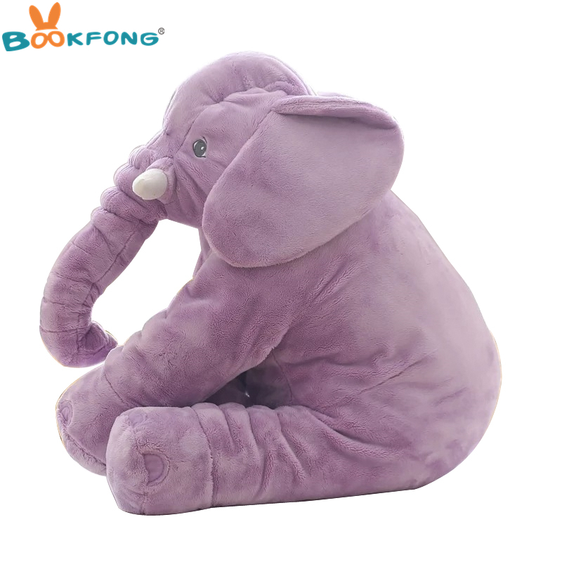 Baby Appease Elephant Plush Toys Soft Stuffed & Plush Elephant Pillow Dolls Toys for Baby Kids Christmas Gift Home Decor 40/60cm bookfong drop shipping 40cm infant soft appease elephant pillow baby sleep toys room decoration plush toys for kids