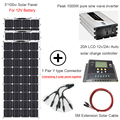 300 Вт DIY kit Солнечная система для дома 100 Вт Панель солнечных батарей модуль 110В 220В 500 Вт Инвертор 12В/24В/20А ЖК-контроллер солнечной батареи кабе...