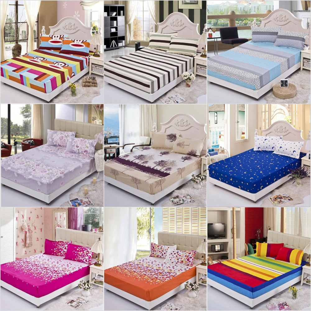 Fitted Sheets Rubber Bed Sheet Elastic Bed Linen Mattress