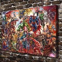 A3626 Universo Dc E Marvel Comics Filme de Desenhos Animados. Hd Cópia Da Lona Decoração de Casa Sala Quarto Parede Pictures Art pintura