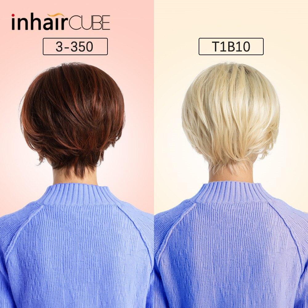 ESIN 10 inches Kort Blond Bob Style Paryck Kort Rak Blend Hår - Syntetiskt hår - Foto 3