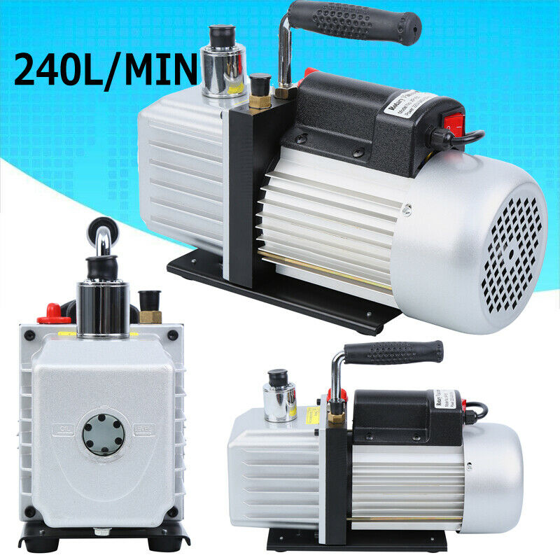 8CFM 5Pa Vacuum Pump HVAC Condition Air Refrigeration Tool Fit Business Industry