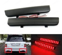 2x Black Range Rover L322 Freelander 2 Rear Bumper Reflector LED Brake Light DRL