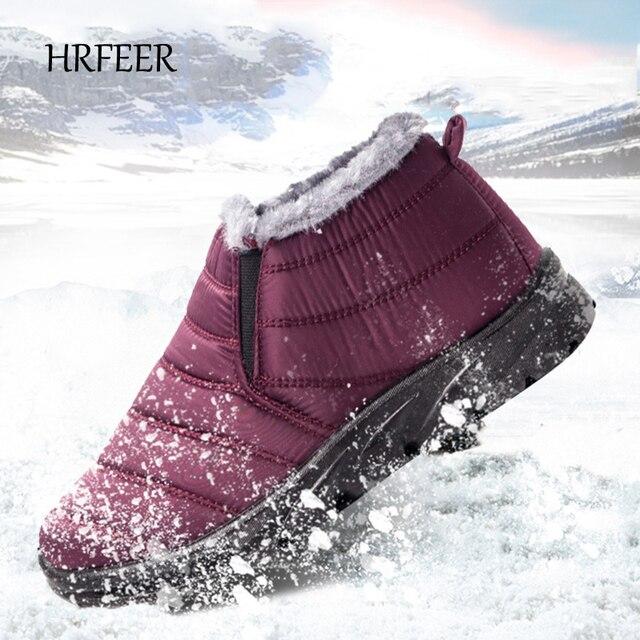 HRFEER 2018 Sonbahar/Kış Kadın Botları Kalınlaşma Kaşmir Kar Botları Sıcak Tutmak pamuklu ayakkabılar Su Geçirmez Kış Ayakkabı Kadın