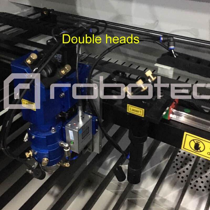 Double Heads 1390 CO2 Laser Cutting Machine With RECI W8 W2, Auto Focus, Water Chiller / Cnc Laser Metal Cutting Machine