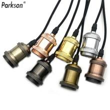 Lampe suspendue Vintage, support de lampe Edison rétro avec prise de lampe E27, 110V 220V, raccord vis