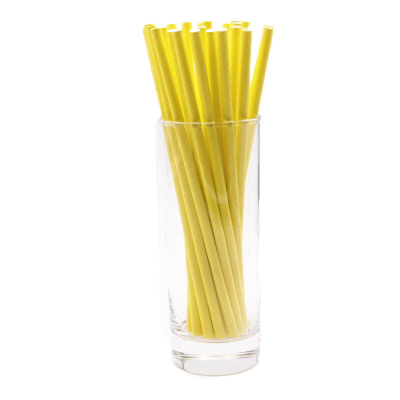 25pcs/lot Yellow Theme Wedding Decorations Disposable Paper Straws Tableware Party drink straws kids Birthday party supplies
