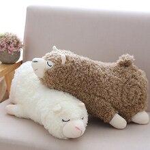 1pc 30/45/60cm 2 Patterns Stuffed sleepy Alpaca plush toys cute lamb sheep doll Home cushions soft pillows Babys Christmas gift