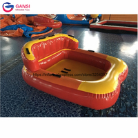 Summer hot product inflatable towable boat crazy saturn ufo, 1.85*1.7m inflatable water air sofa for games