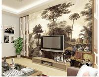 3D wallpaper murale personalizzato bellezza Ristabilisce I sensi antichi è disegnare a mano stereoscopico paesaggio non tessuto carta da parati decorazione della stanza