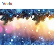 Yeele Merry Christmas Party Winter Dreamy Tree Light Bokeh Photo Background Custom Vinyl Photography Backdrop For Studio