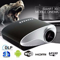 HD 1080 P HDMI AV Cinema Home Theater Filme hdmi projetor usb projetor Multimídia LED Projector Preto UE