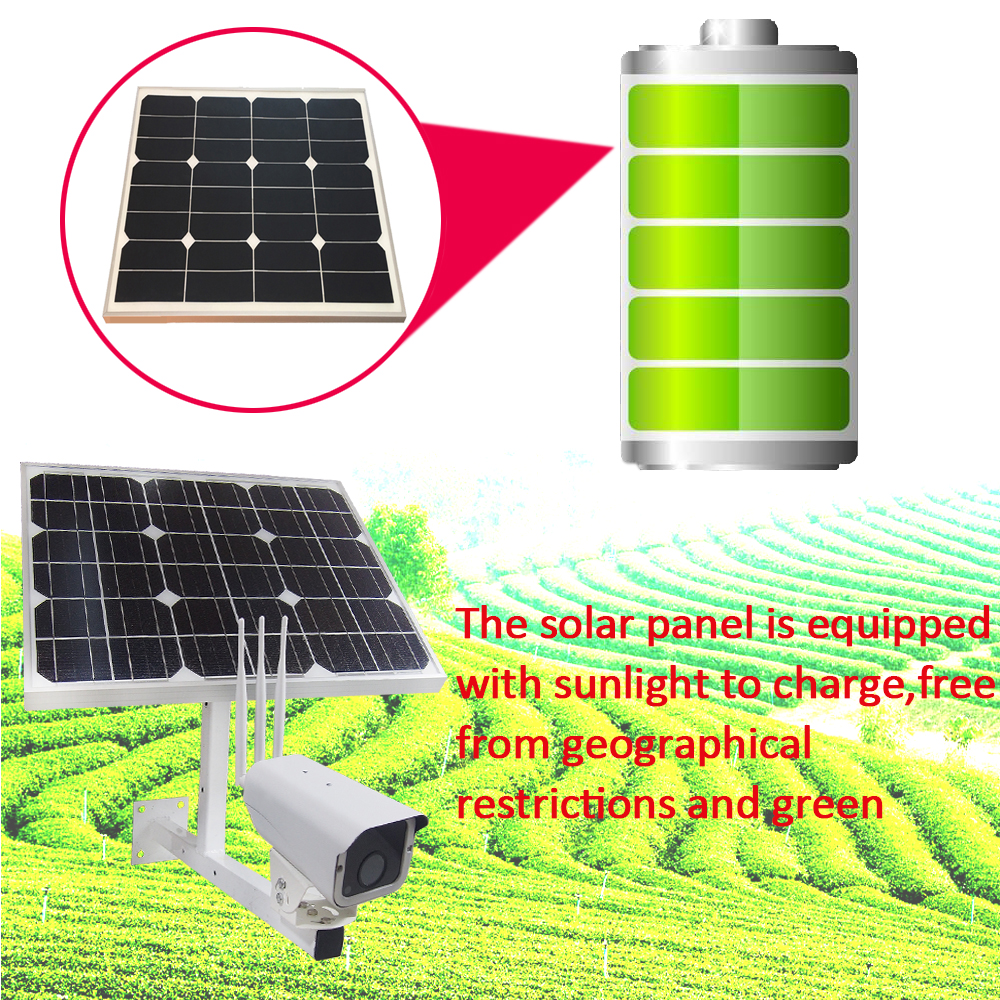 Image 4 - 30W Solar Power Panel Battery Security 1080P CCTV Surveillance Outdoor IP Camera Onvif Wireless Wi fi 3G4G SIM Free 16GB SD Card-in Surveillance Cameras from Security & Protection