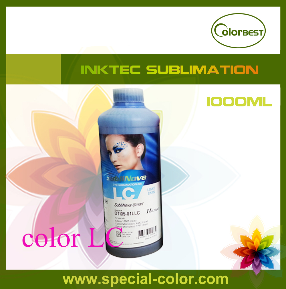 все цены на  Hot sales! 1000ml Inktec SubliNova Smart Transfer Ink for Epson (Color LC)  онлайн