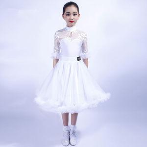 Image 1 - ガールズラテンダンスドレストップス + スカート社交ダンスドレス子供子タンゴダンス衣装ステージパフォーマンス