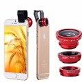 Lente de ojo de pez accesorios cajas del teléfono móvil cubierta del teléfono para el iphone 5s 6 6 s más 7 samsung galaxy j5 xiaomi redmi note 2 3 4 Pro