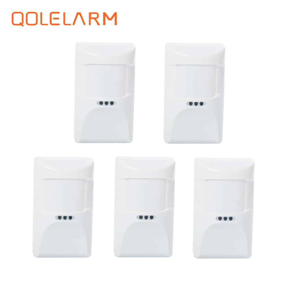 5pcs 433MHz Wireless pet immune infrared  anti-pet PIR sensor motion detector for wi-fi gsm sms alarm system with battery high quality wireless gsm sms pstn anti thief alarme maison with pet immune pir sensor free shipping