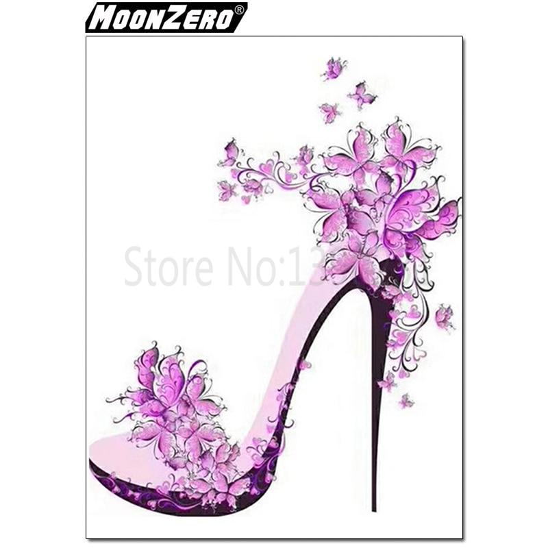 5d Diy Diamant Blume High Heel Muster Kristall Diamant Harz Volle