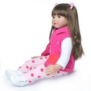 Image 4 - shipping from Russia 60CM high quality reborn toddler princess girl doll adorable Lifelike Baby Bonecas bebe doll reborn menina