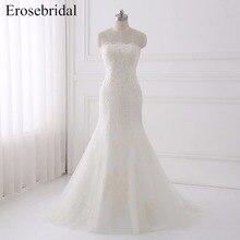 erosebridal Sweetheart Wedding Dress With Sleeveless Train