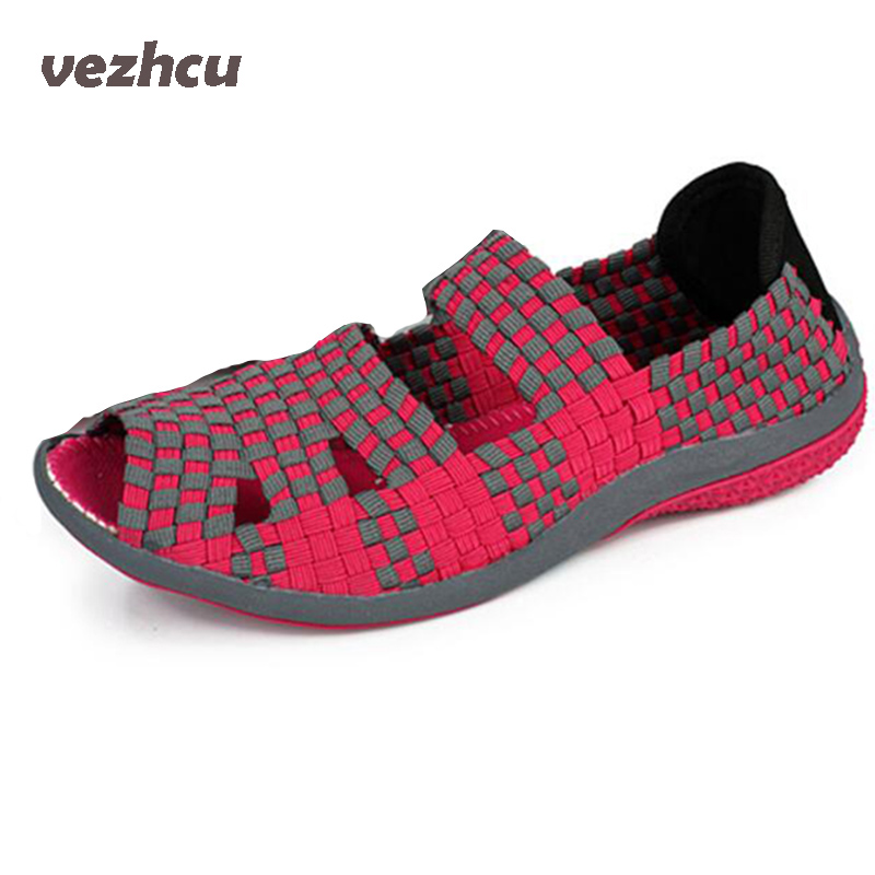 VZEHCU Women Breathable Flats Casual Summer Shoe Woman Wholesale Apartments Fashion Moccasin Nurse Shoes Plus Size 35-40 3e29 de la chance 2018 new fashion women casual shoes adults colorful women s flats shoes woman breathable harajuku flat plus size