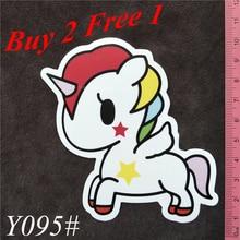 Y095# Cartoon Unicorn PVC Sticker Home Decor Fridge Styling Wall Travel Suitcase Graffiti Styling Stickers