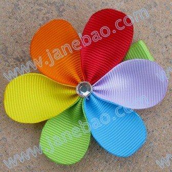 50 шт., Красивые Цветочные заколки с лепестками, Новые Цветочные заколки, разноцветные заколки для волос