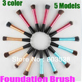 Envío Libre + Envío de La Gota Face Brush Individual Maquillaje Cepillo Colorete Fundación Brush Tool Maquillaje 5 Modelos Para Usted elección
