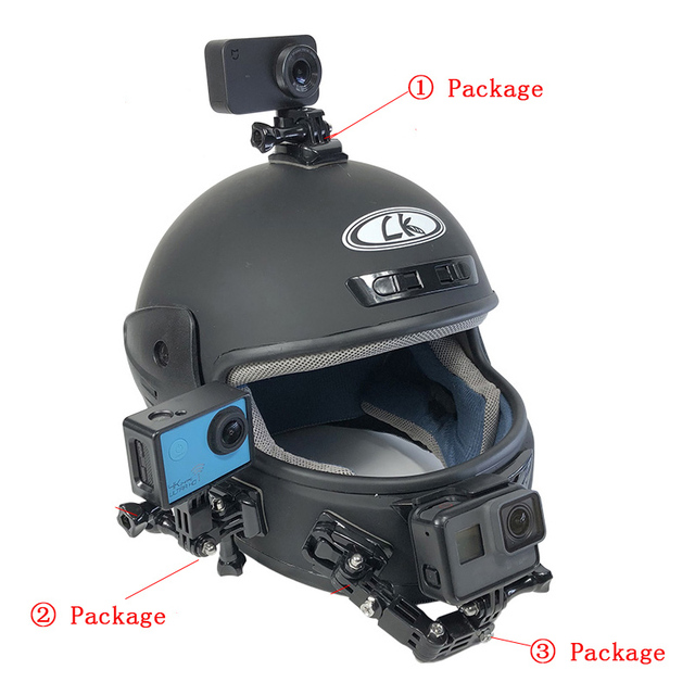 Motorcycle Helmet Mount Curved Adhesive Arm For Xiaomi yi 4K Gopro Hero 7 6 5 4 3 SJCAM sj4000 Eken H9 Action Camera Accessories