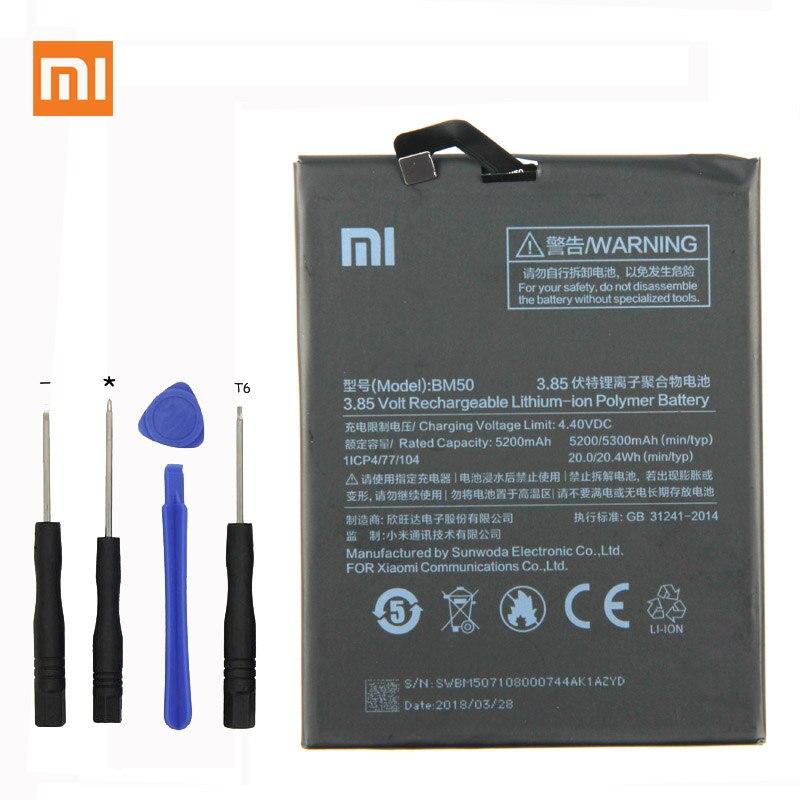 Original Xiao mi mi Max 2 Telefon batterie Für Xiao mi mi Max 2 MAX2 II BM50 5300 mah