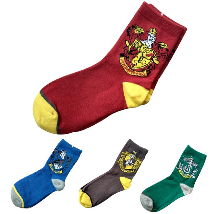 Spring Winter Harri Potter Socks For Adults Women Men Hufflepuff Slytherin Ravenclaw Gryffindor Sock calzino Harri potter Sock