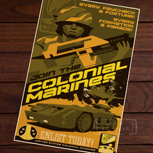 Aliens Colonial Marines Juego Clásico Retro cuadro de lona cartel de Propaganda DIY pared pósteres casa decoración regalo