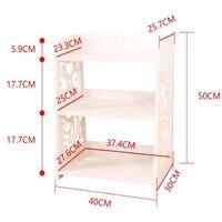 40x30x50 см современной книжной полке дважды Слои книжный шкаф деревянная тумбочка Диван столик Ящики для гостиной кабинета
