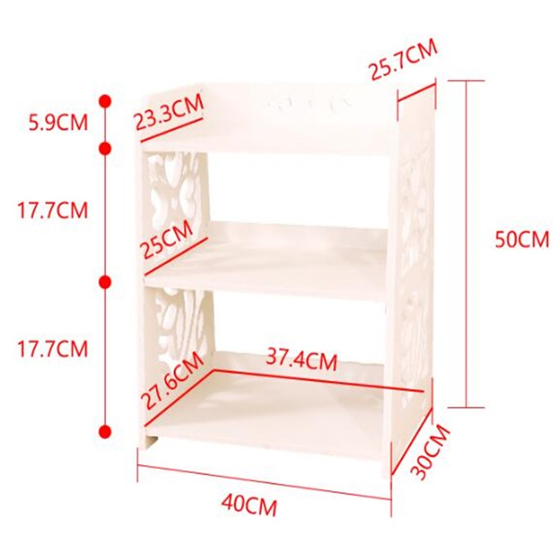 40x30x50CM Modern Bookshelf Double-Layer Bookcase Wood Bedside Table Sofa Side Table Living Room Storage Cabinet gramercy шкаф aberdreen double bookshelf