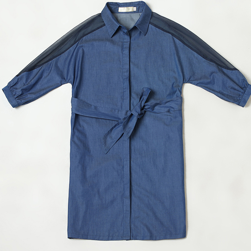 Robe Lj170 Top Slim Plus Vêtements Cowboy Femmes Taille Mode 2018 Denim Mince De La Blue Nouveau Robes Élégant Été Printemps qxUxIwS1g