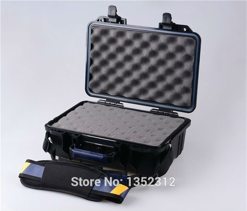 341*249*130mm IP68 sealed waterproof tool equipments case abs safety portable box military equipment plastic case for tools box