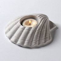 Silicone Concrete Mold for Succulent Plants Starfish Shell Shape Candlestick Molds Cement Candle Holder Plaster Gypsum Mould