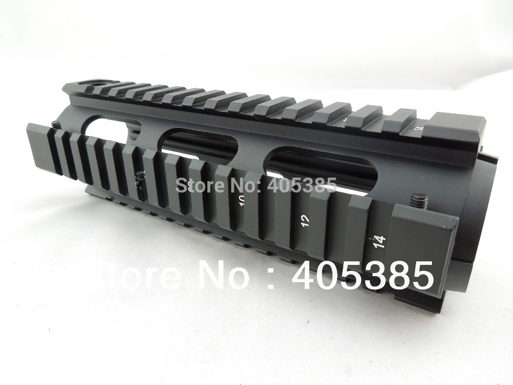1pc Weapon Gun AR Handguard Carbine Length Quad Rail System LENGTH: 6.7 M4 Tactical Air soft Air Guns handguard