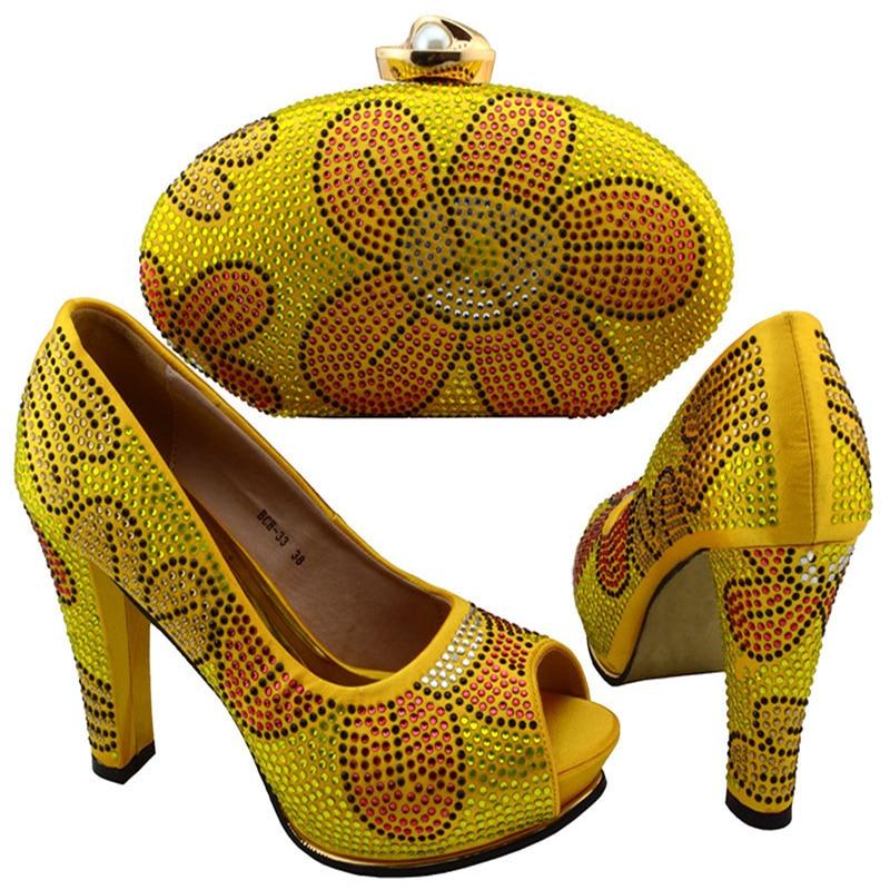 Sistemas chrysoidine En amarillo Crisoidina Partido Tinto Bolsa Bolso Y Del verde Shgoe púrpura Mujeres Los Azul Africanas Para Diseño Las vino Zapato Africanos wEgxE