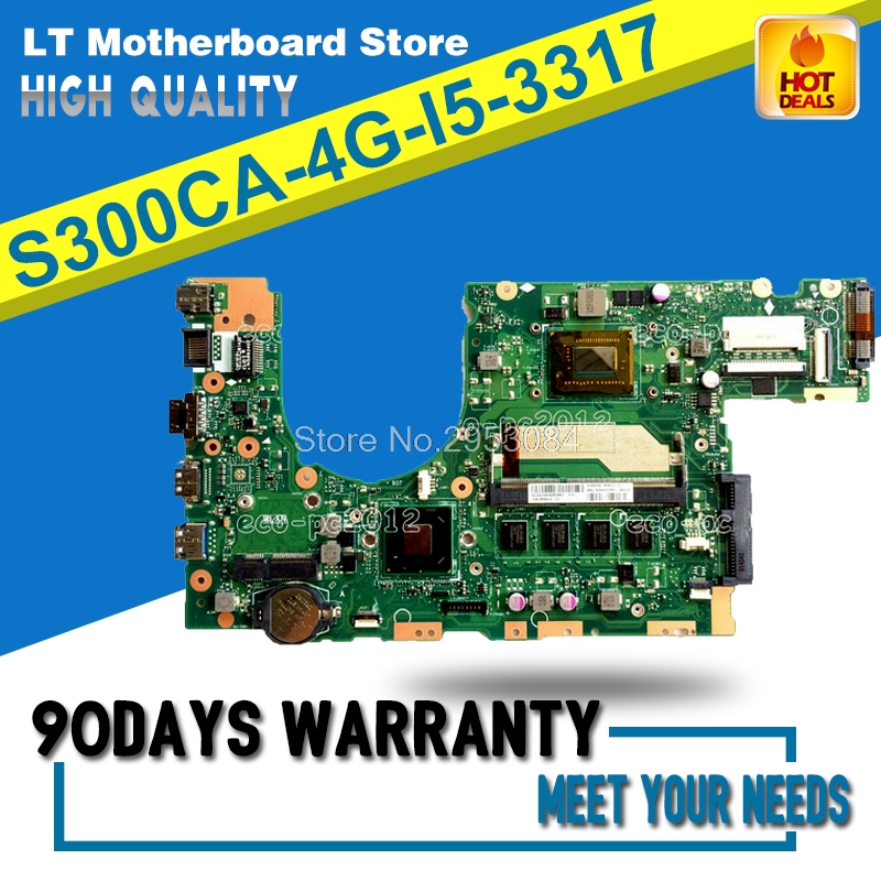 Original S300CA Laptop Motherboard 4G-I5-3317 S300CA Mainboard Fully Tested Working S-4