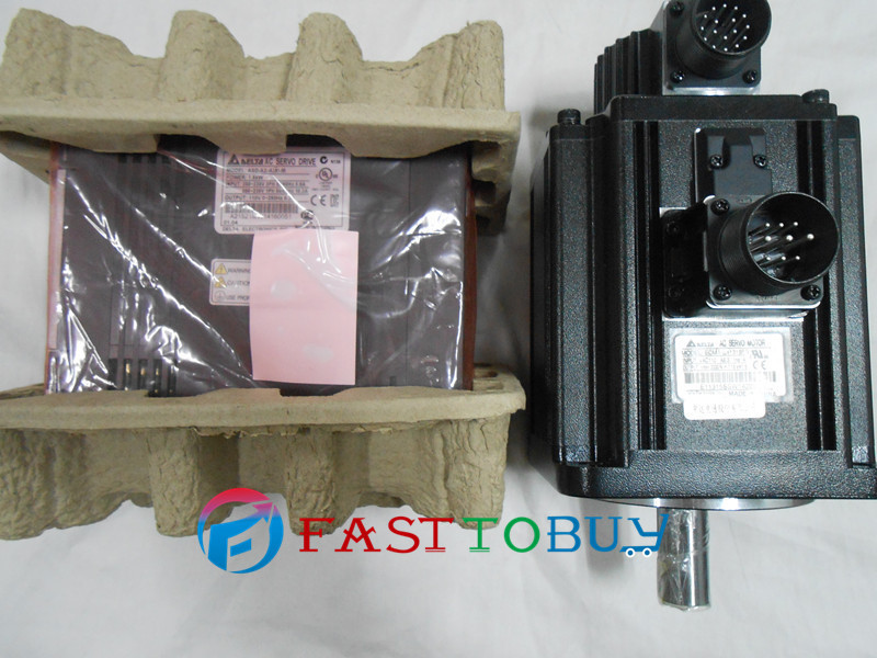 Delta CNC 220V 1KW AC Servo Motor Drive kits System 4.77NM 2000r/min 130mm ECMA-E11310RS+ASD-A2-1021-M Keyway with 3M Cable new original hf sp152 1 5kw 2000r min ac servo motor
