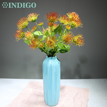 5pcs Leucospermum Cordifolium (5flower head/stem) drangea Nutans Flower Wedding Floral Event Party Table Free Shipping