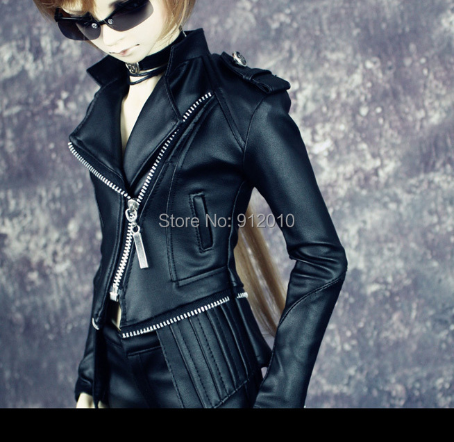 Super Cool Leather Motocycle Outfit  For BJD Doll SD10 SD13 Boy SD17 IP SID,IP EID, SOOM Doll Clothes LF21 doll transparent umbrella for bjd 1 3 sd10 sd13 sd17 uncle ip soom bjd doll accessories ac25