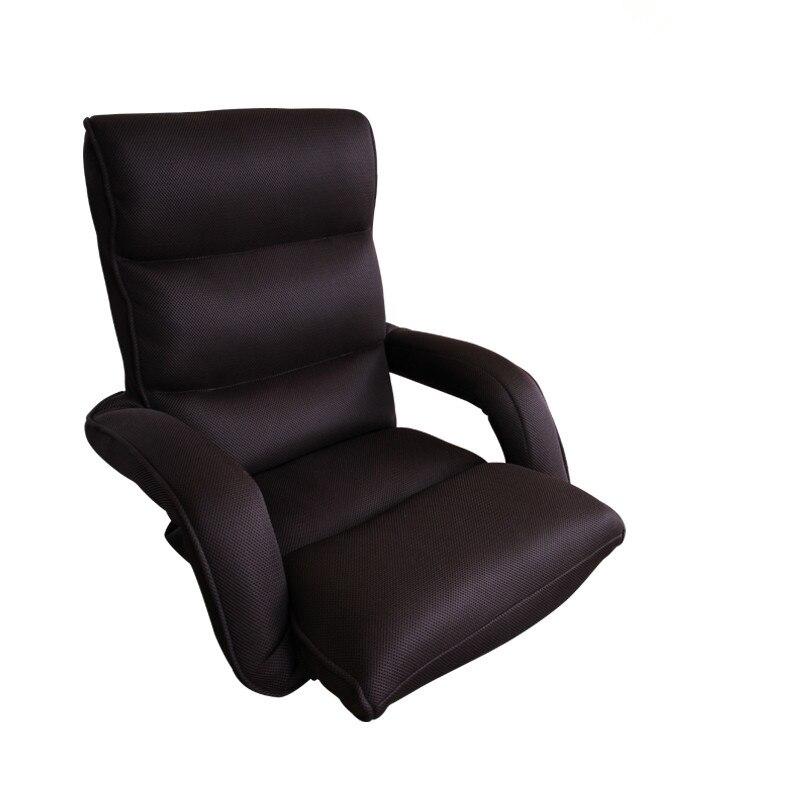 Chaise de détente moderne fauteuil pliant canapé maille tissu meubles vivant mode accoudoir pliable loisirs bras chaise Design