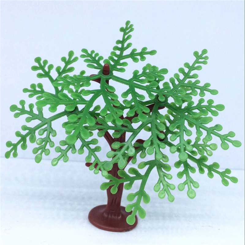 2017 Hot Sale Earth Day New Artificial Flowers Desktop Plant Potted Plants Snow Tree Simulation Plastic The Entourage Of Toys