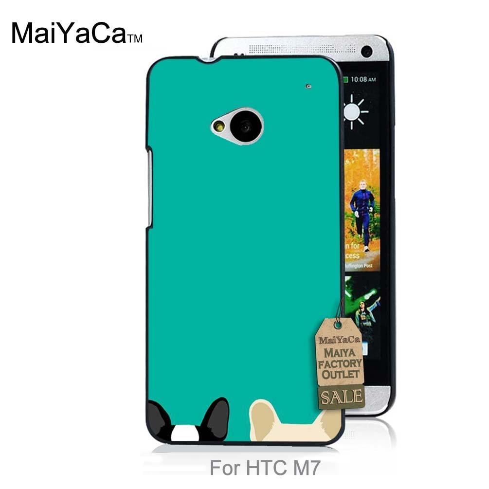 ④maiyaca保護pc携帯電話ケース用ケースhtc one m7かわいいポケット犬